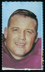 Sam Huff 1969 Glendale Stamps football card