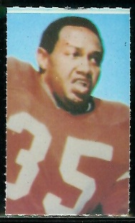 Jim Nance 1969 Glendale Stamps football card