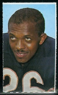 Bennie McRae 1969 Glendale Stamps football card