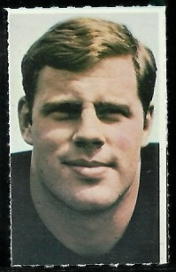 Dave Middendorf 1969 Glendale Stamps football card