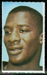Erich Barnes 1969 Glendale Stamps football card