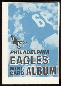 Philadelphia Eagles 1969 Topps Mini-Card Albums football card