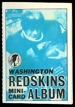 Washington Redskins 1969 Topps Mini-Card Albums football card