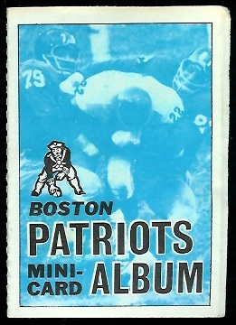 Boston Patriots 1969 Topps Mini-Card Albums football card