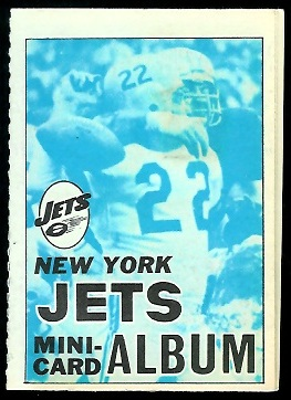 New York Jets 1969 Topps Mini-Card Albums football card