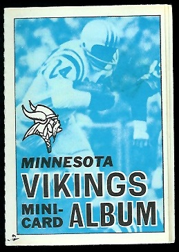 Minnesota Vikings 1969 Topps Mini-Card Albums football card
