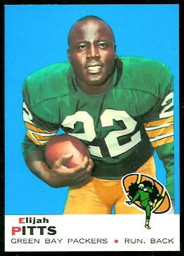 Elijah Pitts 1969 Topps football card