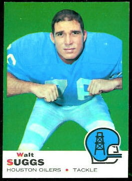 Walt Suggs 1969 Topps football card