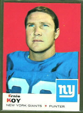 Ernie Koy 1969 Topps football card