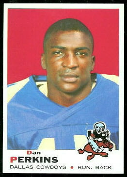 Don Perkins 1969 Topps football card