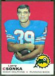 Larry Csonka 1969 Topps football card