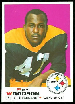 Marv Woodson 1969 Topps football card