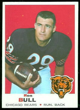 Ron Bull 1969 Topps football card