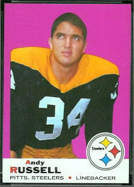 Andy Russell 1969 Topps football card
