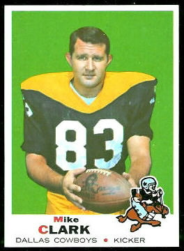 1969 Topps Mike Clark football card