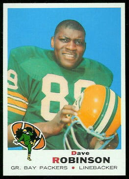 Dave Robinson 1969 Topps football card