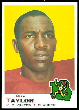 Otis Taylor 1969 Topps football card