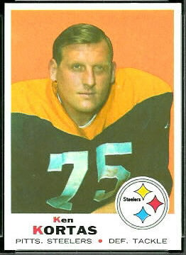 Ken Kortas 1969 Topps football card