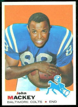 John Mackey 1969 Topps football card