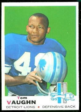Tom Vaughn 1969 Topps football card