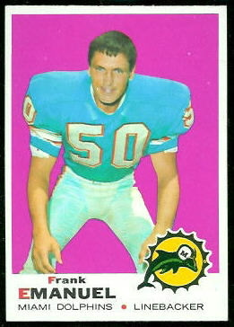 Frank Emanuel 1969 Topps football card