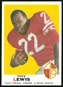 Gary Lewis 1969 Topps football card