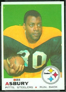 Bill Asbury 1969 Topps football card