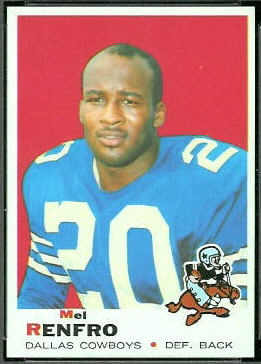 Mel Renfro 1969 Topps football card