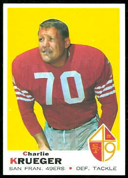 Charlie Krueger 1969 Topps football card