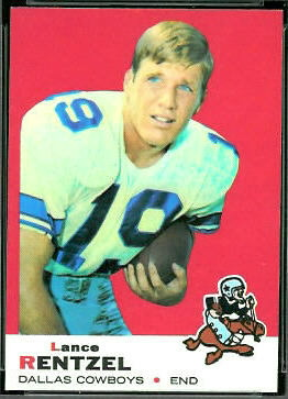 Lance Rentzel 1969 Topps football card