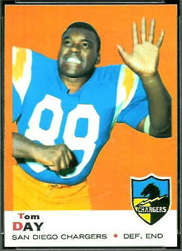 Tom Day 1969 Topps football card