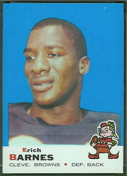 Erich Barnes 1969 Topps football card