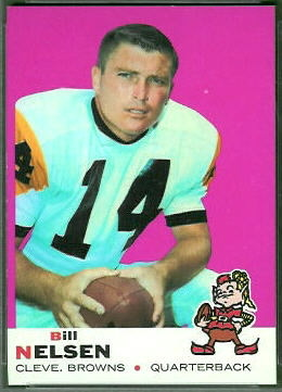 Bill Nelsen 1969 Topps football card