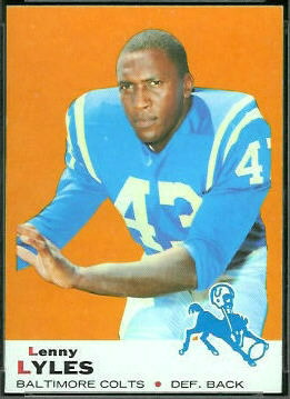 Lenny Lyles 1969 Topps football card