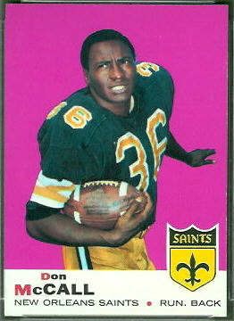 Don McCall 1969 Topps football card