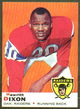 Hewritt Dixon 1969 Topps football card