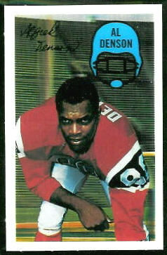 Al Denson 1970 Kelloggs football card
