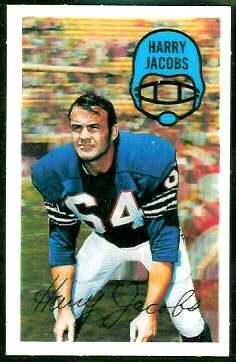 Harry Jacobs 1970 Kelloggs football card