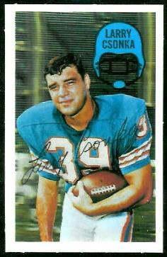 Larry Csonka 1970 Kelloggs football card