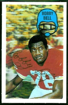 Bobby Bell 1970 Kelloggs football card