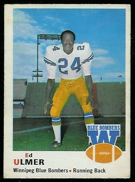 Ed Ulmer 1970 O-Pee-Chee CFL football card