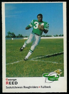 George Reed 1970 O-Pee-Chee CFL football card
