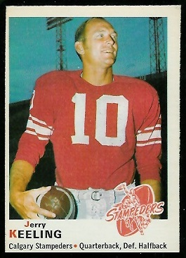 Jerry Keeling 1970 O-Pee-Chee CFL football card