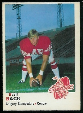 Basil Bark 1970 O-Pee-Chee CFL football card