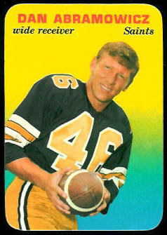 Dan Abramowicz 1970 Topps Super Glossy football card