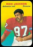 Rich Jackson 1970 Topps Super Glossy football card