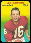 Len Dawson 1970 Topps Super Glossy football card