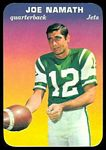 Joe Namath 1970 Topps Super Glossy football card