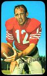 John Brodie 1970 Topps Super football card