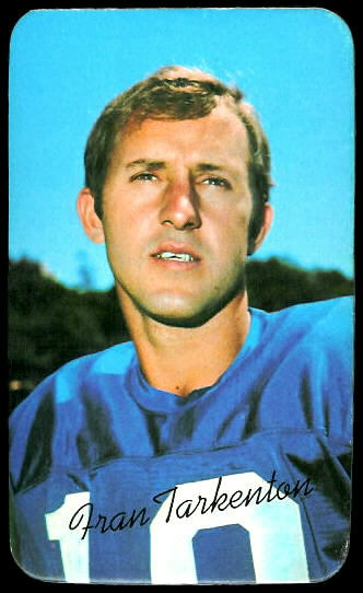 Fran Tarkenton 1970 Topps Super football card